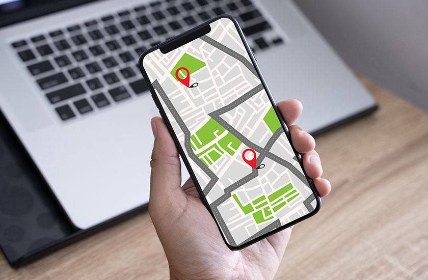 「iphoneを探す」機能のイメージ