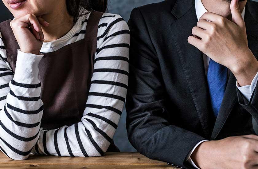 不倫の定義に悩む夫婦