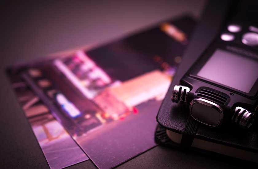 写真とボイスレコーダー