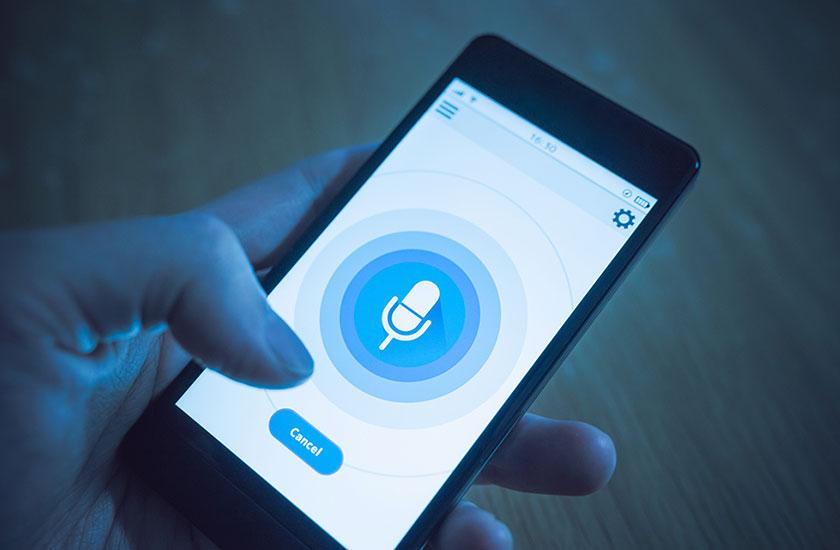 スマートフォンの録音機能イメージ