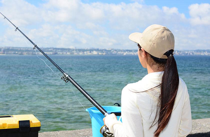 急に趣味で釣りを始めた母親