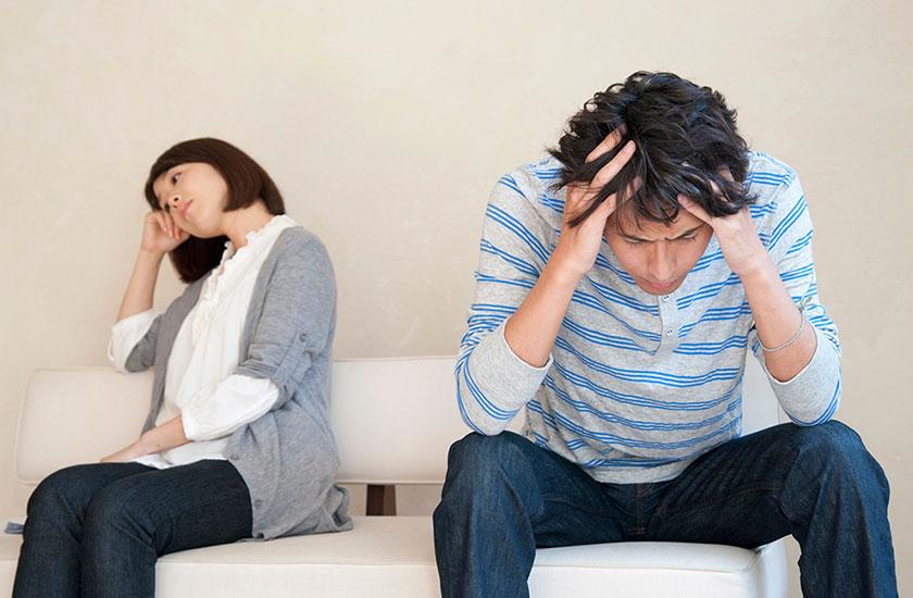 結婚生活が破綻した夫婦