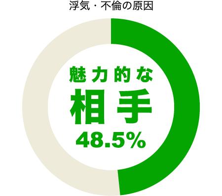 魅力ある異性が浮気の原因48.5%