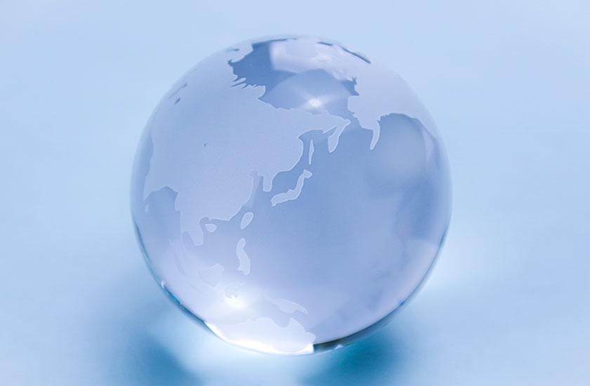 ガラスの地球儀
