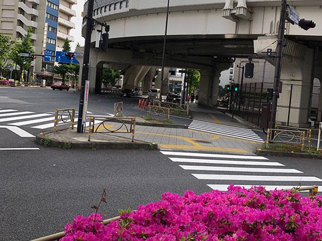 暫く直進すると西新宿3丁目の交差点が見えてきますので、横断歩道を更に直進します。